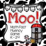 MOO! Math Fact Fluency Card Game | Addition and Subtraction within 20