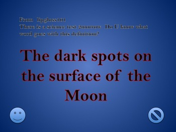 MOON REVIEW GAME-An Original PowerPoint-30 questions in 6 categories
