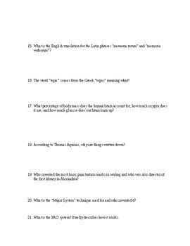 MOONWALKING WITH EINSTEIN Book Questions