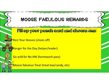 MOOSE Fabulous Behavior Punch cards