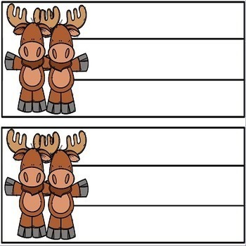 Moose Theme Back to School Name Plates and Word Wall Cards