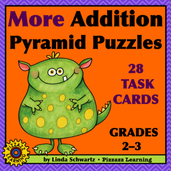NEW! MORE ADDITION PYRAMID PUZZLES