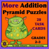MORE ADDITION PYRAMID PUZZLES