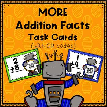 MORE Addition Facts (Vertictal) Task Cards