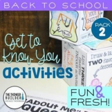 "Back to School Activities ""Get To Know You"" {Pack #2}"
