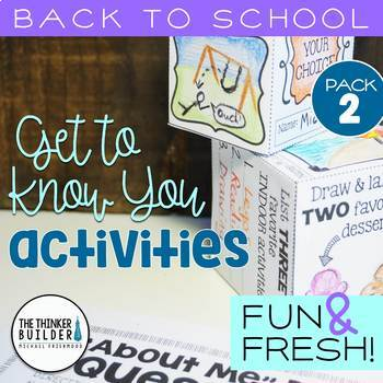 """Back to School Activities """"Get To Know You"""" {Pack #2}"""