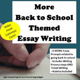 MORE Back to School Theme Essay Writing, w Rubrics & Printables