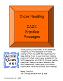 MORE DAZE Cloze Reading Practice Passages Pack 3
