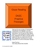 MORE DAZE Cloze Reading Practice Passages Pack 3