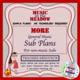 MORE Elementary General Music Sub Plans for the Non-musical Substitute!