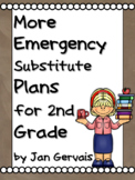 MORE Emergency Substitute Plans for 2nd Grade