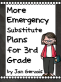 MORE Emergency Substitute Plans for 3rd Grade