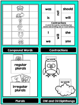 Phonics Interactive Notebook MORE