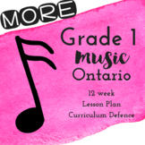 MORE Grade 1 *MUSIC* Lesson Plans 12 More weeks