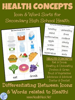 MORE Health Concepts- Sorting and Matching Activities for Secondary Autism Units
