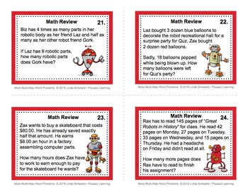 MORE MULTI-STEP WORD PROBLEMS