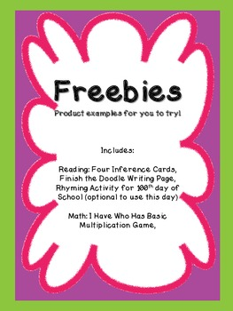 MORE Math and Reading Freebies (Grades 1 - 3) Amy Padgett Creations: samples