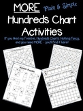 MORE Plain & Simple Hundreds Chart Activities