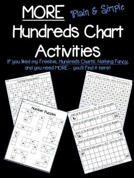 MORE Plain & Simple Hundreds Chart Activities