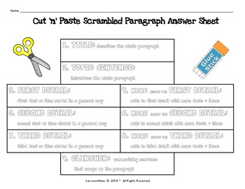 MORE Scrambled Paragraph Writing Activities: BASIC LEVEL  {No Prep Printables!}