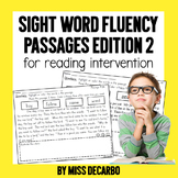 Sight Word Fluency Passages for Reading Intervention Edition 2