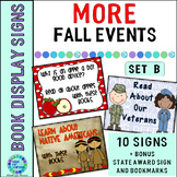 Book Display Signs for the Library or Classroom Set B MORE Fall