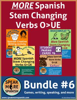 MORE Spanish Present Stem Verbs O>UE Bundle #6 * Verbos con cambios O>UE
