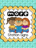 MORE Station Signs with Blanks (All Subjects)