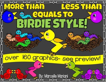 MORE THAN- GREATER THAN- LESS THAN CLIP ART GRAPHICS- BIRDIE STYLE (164 IMAGES)