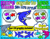 MORE THAN LESS THAN EQUALS TO CLIPART  SEA LIFE STYLE (222 IMAGES)
