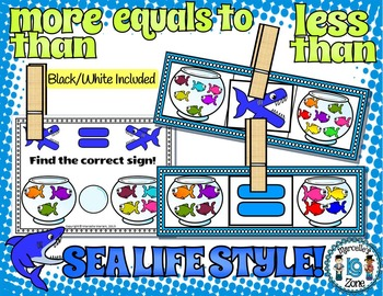 MORE THAN-LESS THAN-EQUALS TO MATH CENTRES FOR KINDERGARTEN