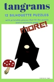 MORE Tangrams Printable Peices and Silhouette Puzzle Cards