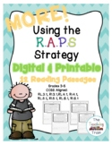MORE! Using the RAPS Strategy: Reading Passages