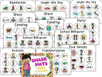 MORE Vocabulary Smash Mats - NO PREP + Sorts & Coloring