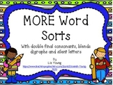 MORE Words Sorts - Double Final Consonants, Blends and Digraphs