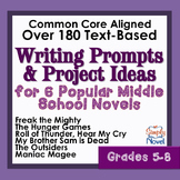 Literature-Based Writing Prompts and Project Ideas for Popular Novels Grades 5-8