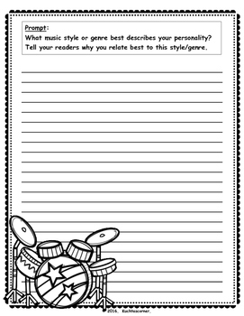 MORE Writing Prompts for the Elementary Music Classroom (A Sequel)