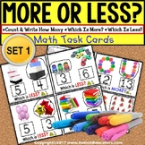 "MORE or LESS (Greater/Less Than) Task Cards ""TASK BOX FILL"