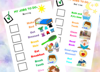 graphic relating to Morning Routine Printable named Early morning AND BEDTIME Record Printable, Early morning Agenda List, Bedtime listing