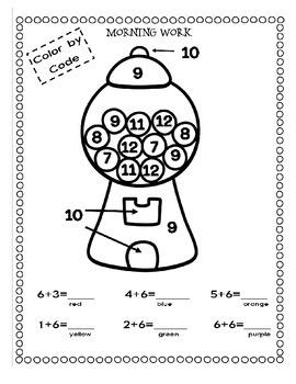 MORNING EXERCISES -  FREEBIE {Volume 1 ~ Kindergarten Review}