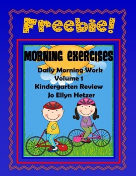 MORNING EXERCISES -  FREEBIE {Volume 1 ~ Kindergarten Review}