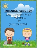 MORNING EXERCISES -  daily morning work: volume 2
