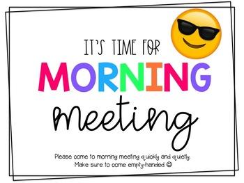 MORNING MEETING SLIDESHOW (EDITABLE)