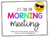 MORNING MEETING SLIDESHOW (EDITABLE)
