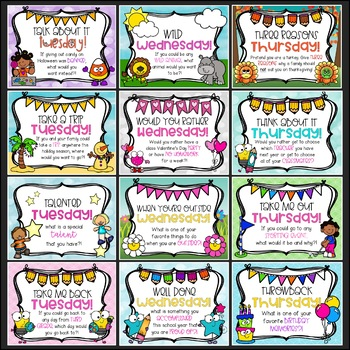 MORNING MESSAGE PROMPTS!