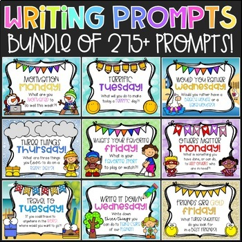 Daily Morning Prompts for the Entire School Year!