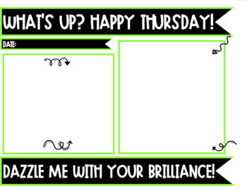 MORNING MESSAGE SLIDES!  Editable!  30 Choices!!