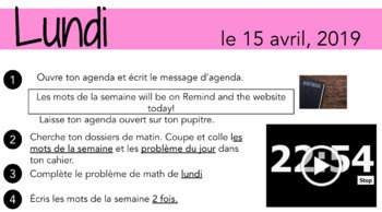 MORNING SLIDES: French version