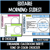 MORNING SLIDES!  Polkadot! Editable!