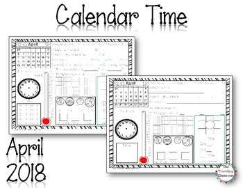 MORNING WORK Calendar Time Worksheets - April - Common Core